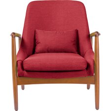 Ellen Mid-Century Modern Upholstered Leisure Armchair