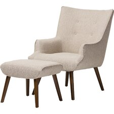 Manuel Wingback Chair and Ottoman