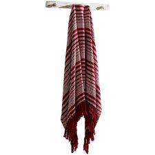 Whimsical Cane Stripe Woven Cotton Throw Blanket