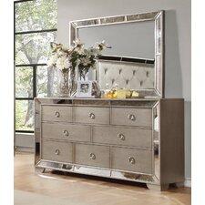 Chesmore 8 Drawer Dresser with Mirror