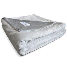 Premium Reversible Gray Micro Plush Pet Blanket