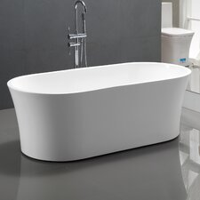 "63"" x 29.5"" Acrylic Freestanding Soaking Bathtub"