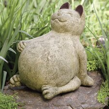 Volcanic Ash Lucky Cat Statue