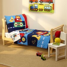 Under Construction 4 Piece Toddler Bedding Set