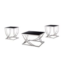Lucio Arch Curved 3 Piece Coffee Table Set