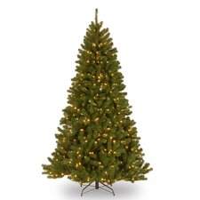 7' Green Spruce Artificial Christmas Tree with 500 Clear Lights