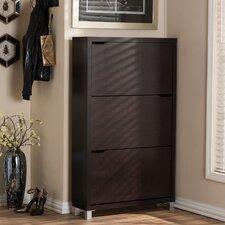 18-Pair Wood Shoe Storage Cabinet