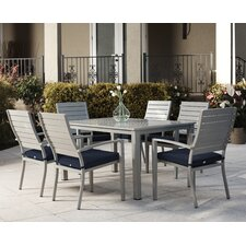 Olive 7 Piece Dining Set with Cushion