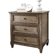 Bedard 3 Drawer Nightstand
