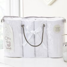 Moses Basket Bale Gift 4 Piece Cot Bedding Set