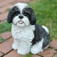 Sitting Dog Shih Tzu Statue