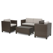 McIntosh 4 Piece Deep Seating Group with Cushions