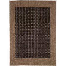 Ariadne Checkered Field Black/Cocoa Indoor/Outdoor Area Rug
