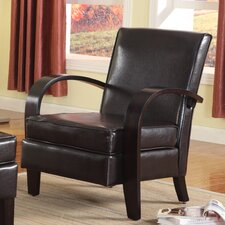 Papillion Bonded Leather Arm Chair