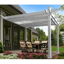Elysium Attached Louvered 8.5 Ft. H x 12 Ft. W x 12 Ft. D Pergola