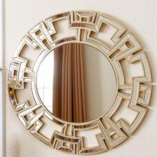 Openwork Round Wall Mirror