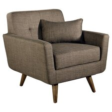 Auberge Tufted Fabric Arm Chair