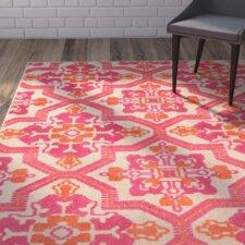 Sawin Sand/Pink Indoor/Outdoor Area Rug