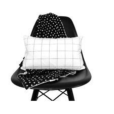 Grid Linen Lumbar Pillow