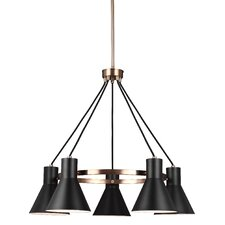 Towner 5-Light Shaded Chandelier
