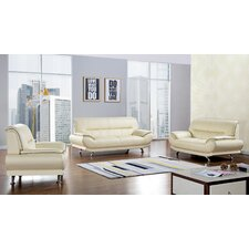 Arcadia 3 Piece Leather Living Room Set