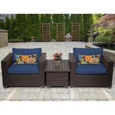 Belle 3 Piece Deep Seating Group with Cushion