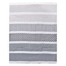 Ombre Gray 3 Piece Crib Bedding Set