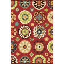 Tyson Hubbard Brick Red Indoor/Outdoor Area Rug