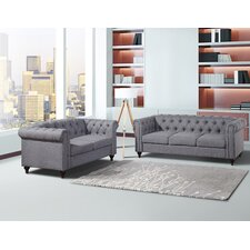 Chesterfield Sofa and Loveseat Set