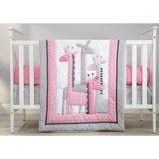 Giraffe Time Infant 4 Piece Crib Bedding Set