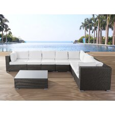 Riva 8 Piece Sectional Seating Group with Cushions