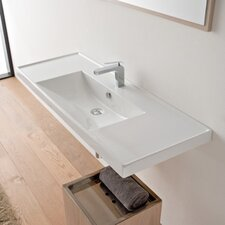 "ML 48"" Wall Mounted Bathroom Sink with Overflow"