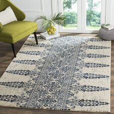 Evoke Ivory/Royal Area Rug