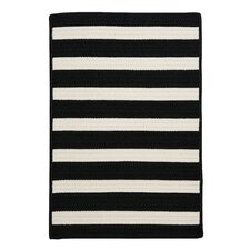 Stripe It Black/White Indoor/Outdoor Area Rug