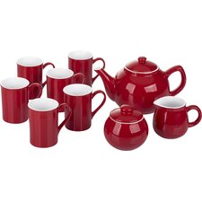 9 Pieces Stoneware 2 Tone Tea Set
