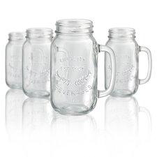 Corneau 22 oz. Mason Jar Mug (Set of 4)
