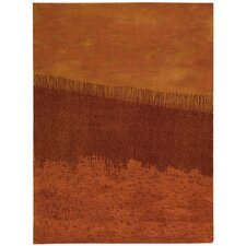 Luster Wash Orange Area Rug
