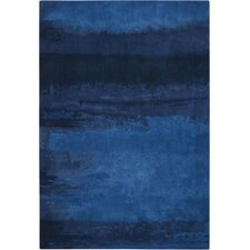Luster Wash Handmade Blue Area Rug