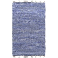 Complex Hand-Loomed Blue Area Rug