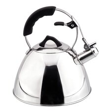 Aquatic 3.17 Qt. Stainless Steel Whistling Stove Tea Kettle