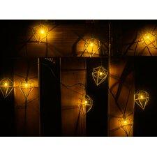 Metal Prism 10-Light Novelty String Lights