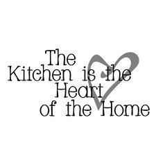 The Kitchen is the Heart of the Home Wall Decal