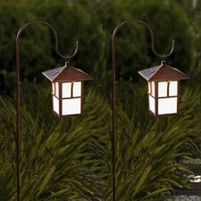 Pagoda Hanging Solar 1-Light Pathway Light (Set of 2)