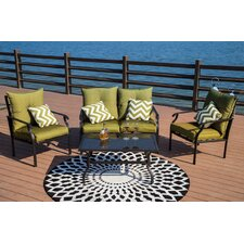 Panama 4 Piece Sofa Seating Group with Cushions