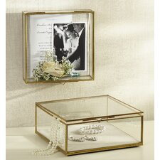 Glass Shadow Decorative Jewelry Box (Set of 2)