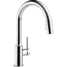 "Trinsic® Kitchen 15"" Single Handle Pull Down Standard Kitchen Faucet"