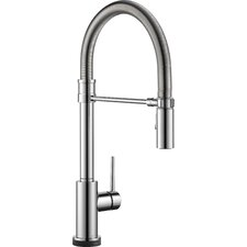 Trinsic Pro Single Handle Deck Mounted Pull Down Kitchen Faucet with Touch2O Technology and Spring Sprout