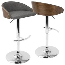Morford Adjustable Height Bar Stool with Cushion