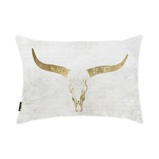 Pascoe Skull Sand Velvet Lumbar Pillow