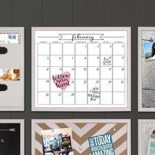 Walcott Framed Monthly Calendar Dry Erase Board